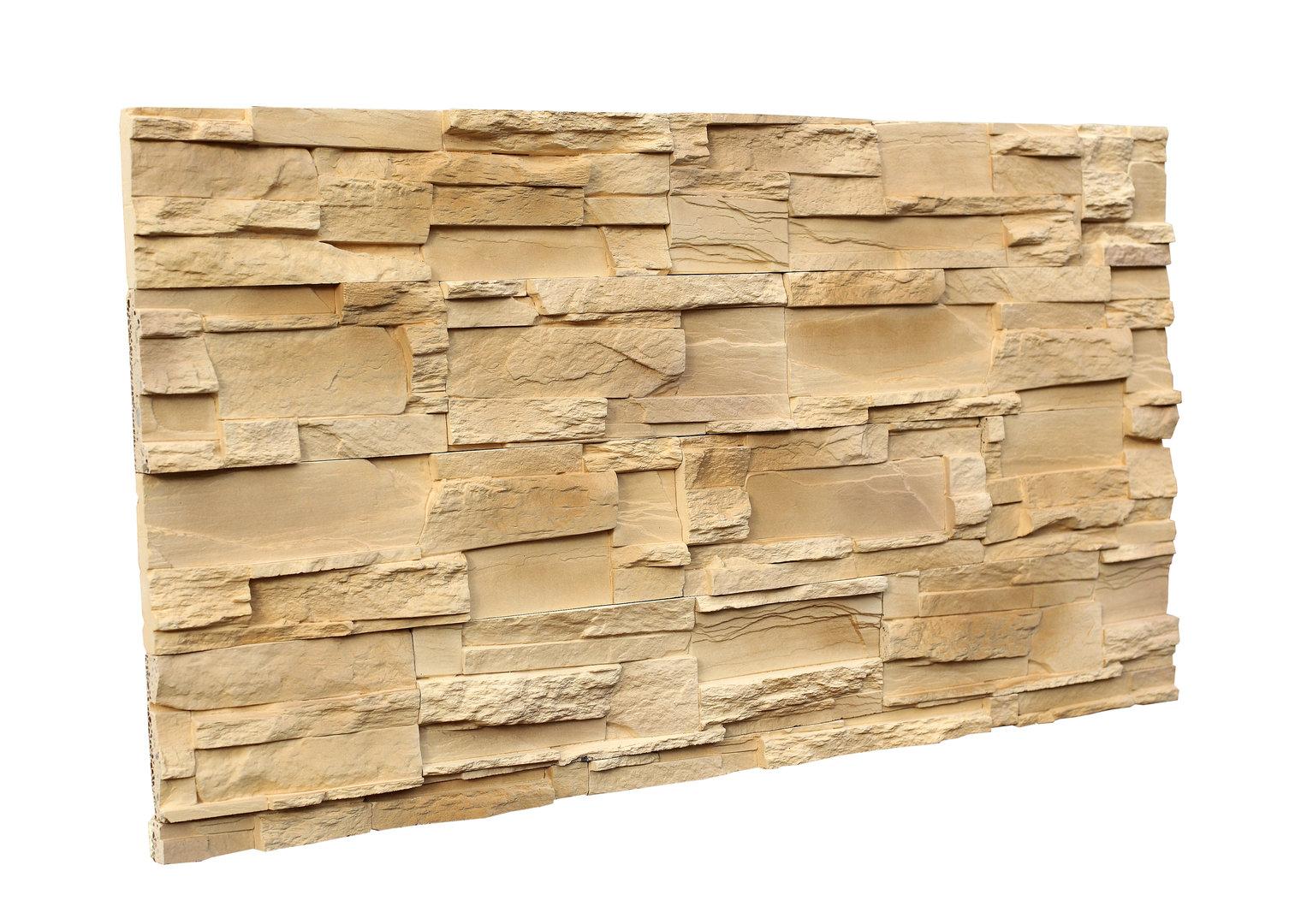 Alpine Sand Corner -Exterior Stone Veneer, Stacked Stone Cladding